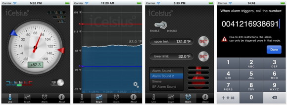 iCelsius termometer app for iPhone/iPad