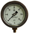 "Manometer 0-100 psi, 4"" skive, 1/2%, 1/4"" NPT"